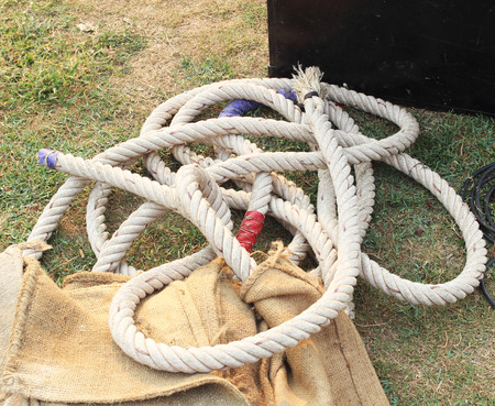 nylon string: Rope on the field