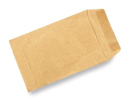 old envelope: Old envelope open on a white background.