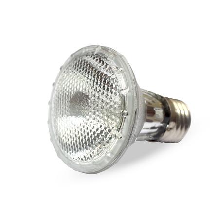 luminaire: Halogen light bulb isolated over white