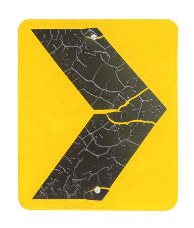 backgrund: Turn right traffic sign on white backgrund