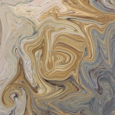 Creative background with abstract acrylic painted waves. Beautiful marble texture. Brown handmade surface. Liquid paint. Horizontal wallpaper. Stock fotó - 46505152