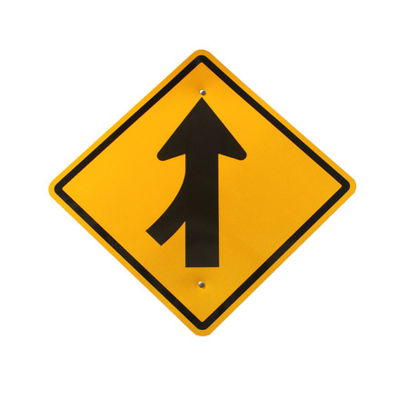 merging: Lanes merging left traffic sign