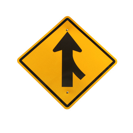 merging: Lanes merging right traffic sign