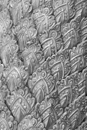 silverware: The art and pattern of carving silverware. Stock Photo