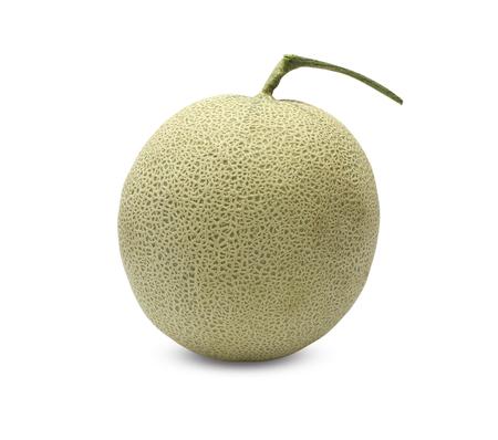 Rock Melon fruit on white background. Zdjęcie Seryjne
