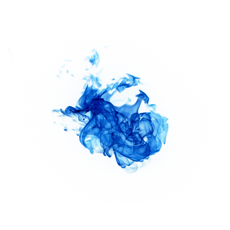 blue flames: blue flames isolated on white background Stock Photo