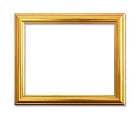 imagery: The antique gold frame on the white background