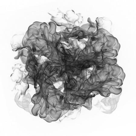 black smoke on a white background Reklamní fotografie - 60507418
