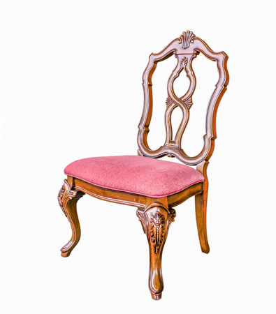 antique chair: Antique Chair with Cushion isolated with clipping path