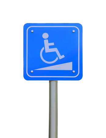 reserved parking sign for handicapped people,with wheelchair