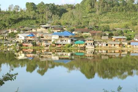 Beautiful lake view from Ban Rak Thai,Mae Hong Son ,Northern of thailand