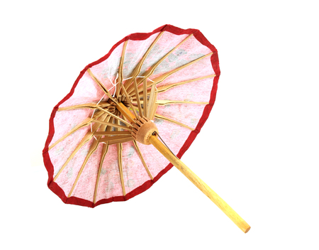 paper textures: umbrella handmade on white background