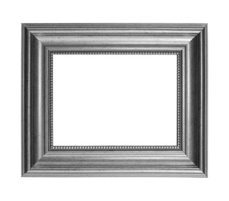Gray picture frame isolated on white background with clipping path 免版税图像