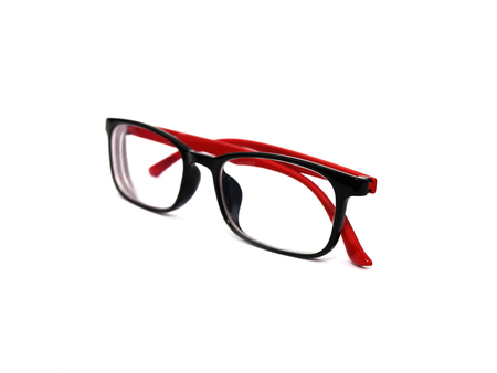 eye glasses isolated on white blackground with clipping path.