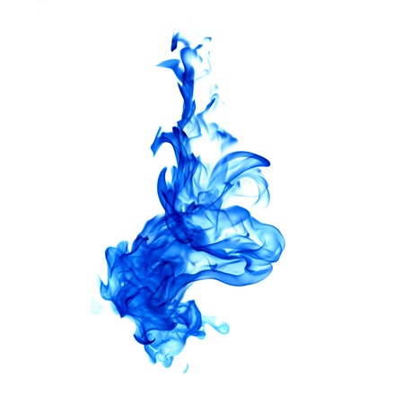 blue flames isolated on white background Archivio Fotografico