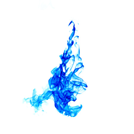 blue flame isolated on white background with  part Stock Photo