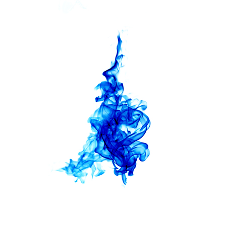 blue flames isolated on white background Stock Photo
