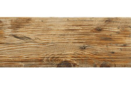 wood board isolated on white background. Clipping path.