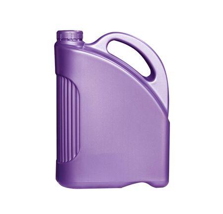 plastic gallon on white background. Isolate plastic gallon on white.
