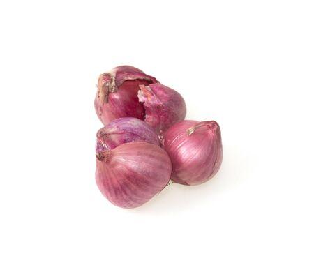 shallot onions isolate on white background. Reklamní fotografie - 143528540