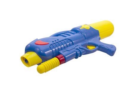 Plastic water gun isolated on white background Reklamní fotografie - 143528569
