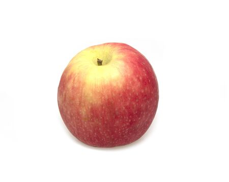 An apple isolated on white.