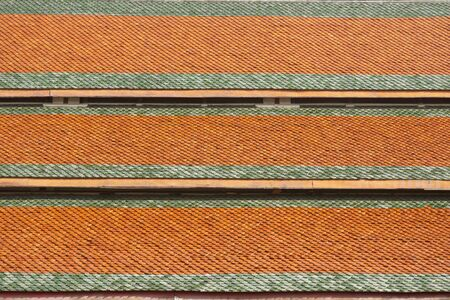 Roof tile measurements. Roof tile measurements. roof of a Thai temple church. Reklamní fotografie
