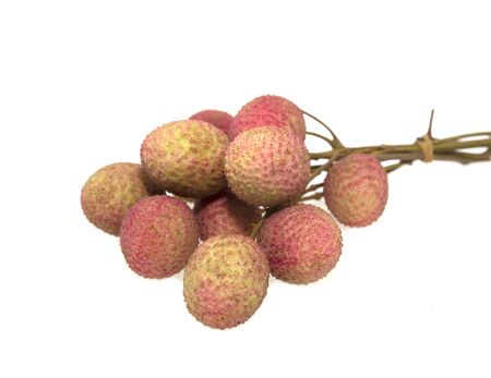 Fresh lychees isolated on white background Reklamní fotografie
