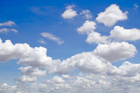 Blue sky background with clouds Zdjęcie Seryjne