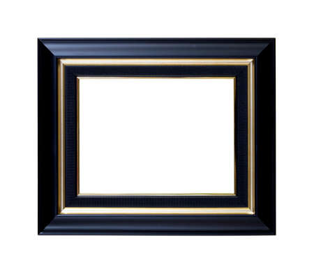 black picture frame, isolated with clipping path.