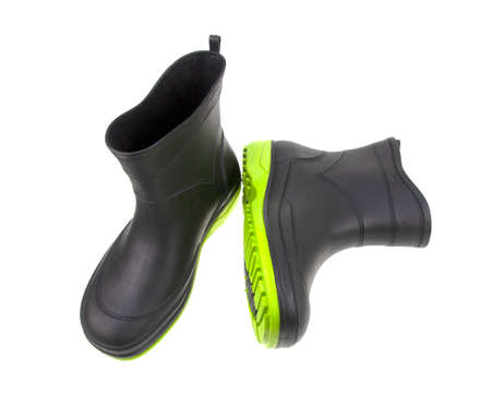 Black boot on white background