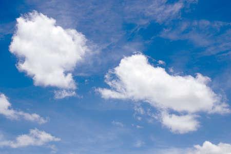 blue sky background with tiny clouds. Banco de Imagens
