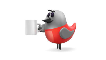 approachable: 3d rendered sweet funny bird