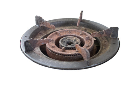 old gas stove: gas oven Stock Photo
