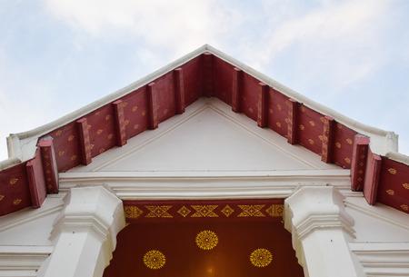 gable: thai temple  gable Stock Photo