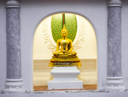mysticism: gold buddha image Stock Photo