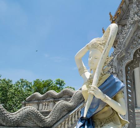 moine: thai statue de moine Banque d'images