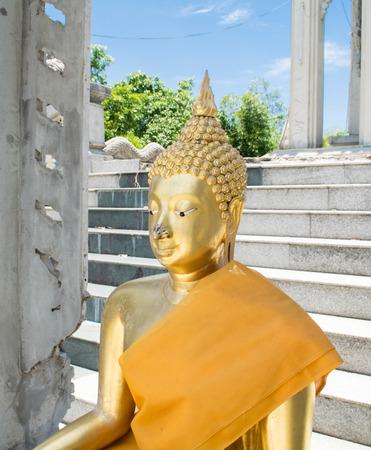 moine: thai statue moine Banque d'images