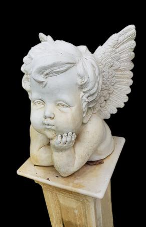 isolate white roman cupid Statue Foto de archivo - 126115604