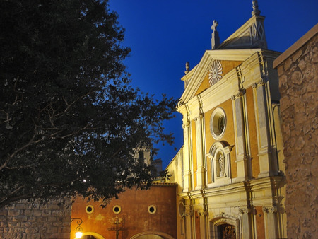 In the ancient quarter of Antibes the temple of Immaculate Conception, the former cathedral of Antibes is located. photo