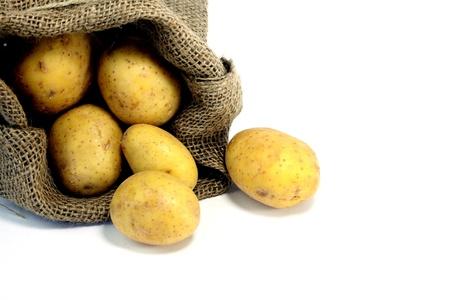 food stuff: a few potatoes Stock Photo