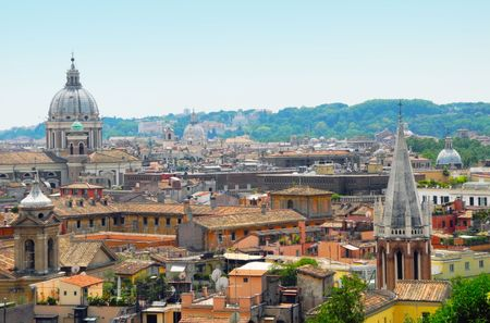 cathedrals: Buildings and cathedrals of Vatican and Rome, Italy.