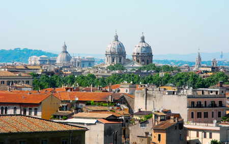 villa borghese: Domes of Rome and Vatican, the view from Villa Borghese.