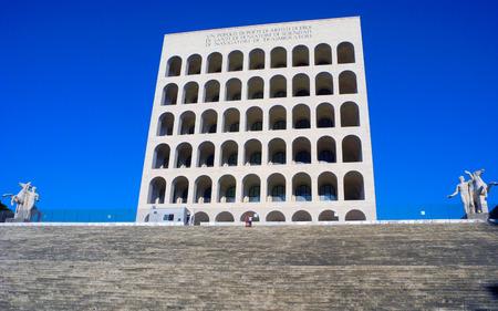 civilization: Palace of Italian Civilization, District Eur, Rome.