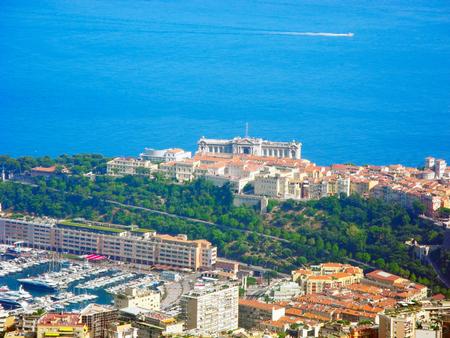 oceanographic: The building of the oceanographic museum in Monaco, located on the coast of the Ligurian Sea.