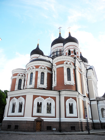 Architecture of St. Alexander Nevsky Cathedral in Tallinn, Estonia.
