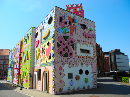 Braunschweig, Germany - July 9, 2013: Happy Rizzi House - avant-garde building in the style of pop art.