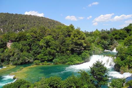 Krka National Park, waterfall Skradinski buk, Croatia. Stock Photo