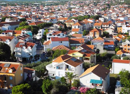 building sector: Cityscape of small resort Vodice in Croatia. Stock Photo