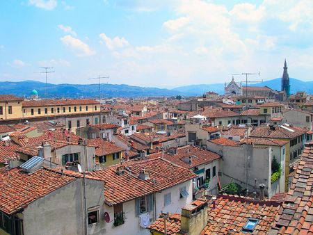 Landscape of the city of Florence in summer, Italy.